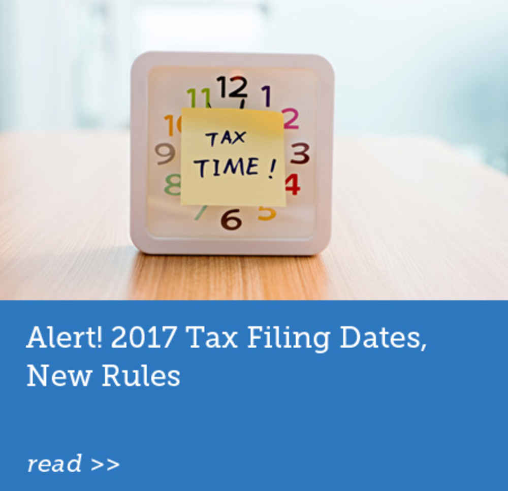 2017 Tax Filing Dates, New Rules