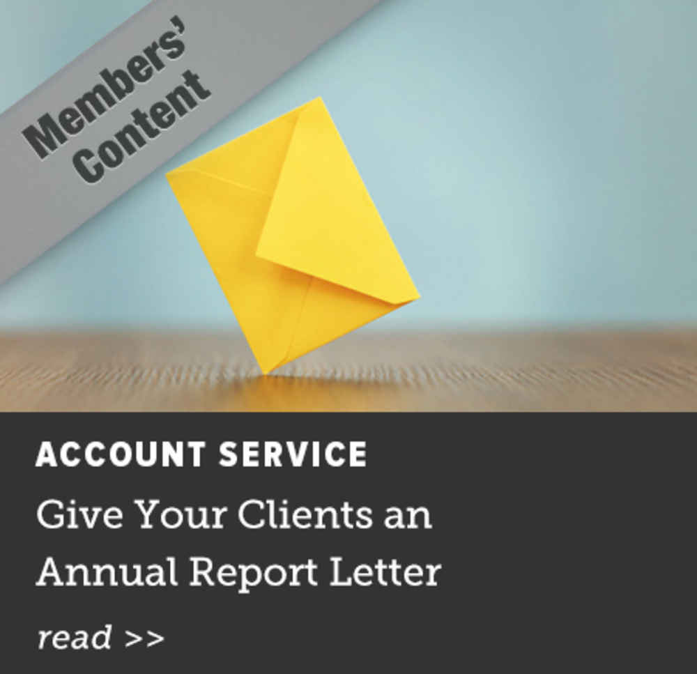 Give Your Clients an Annual Report Letter