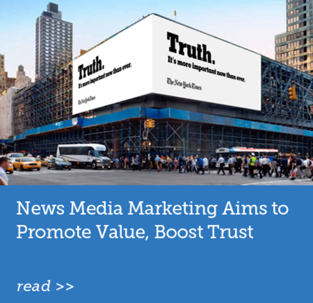 News Media Marketing Aims to Promote Value