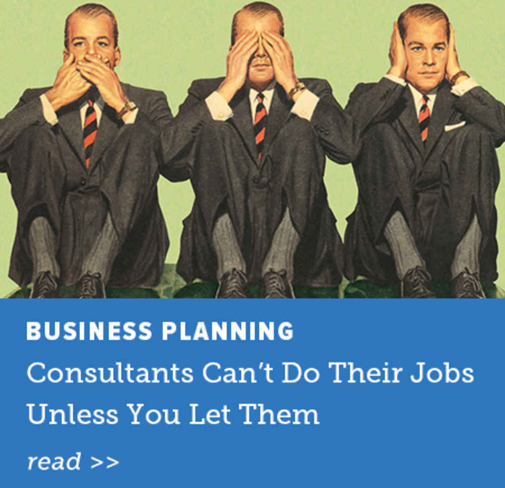 Consultants Can't Do Their Jobs