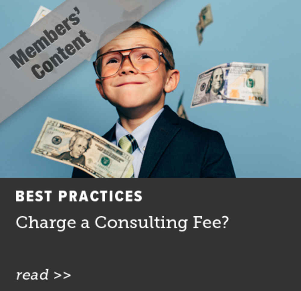 Charge a Consulting Fee?
