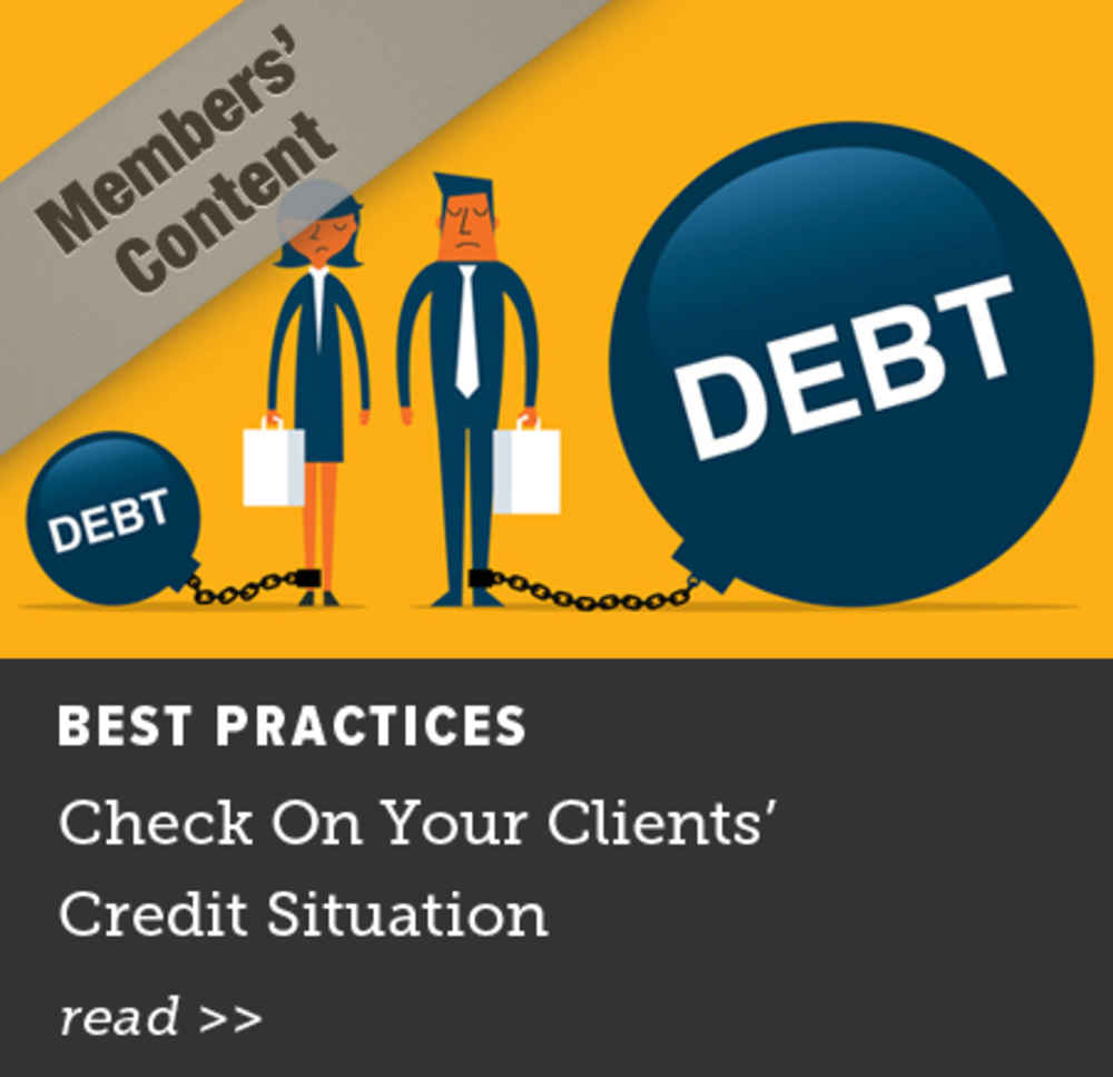 Check on Your Clients' Credit Situation