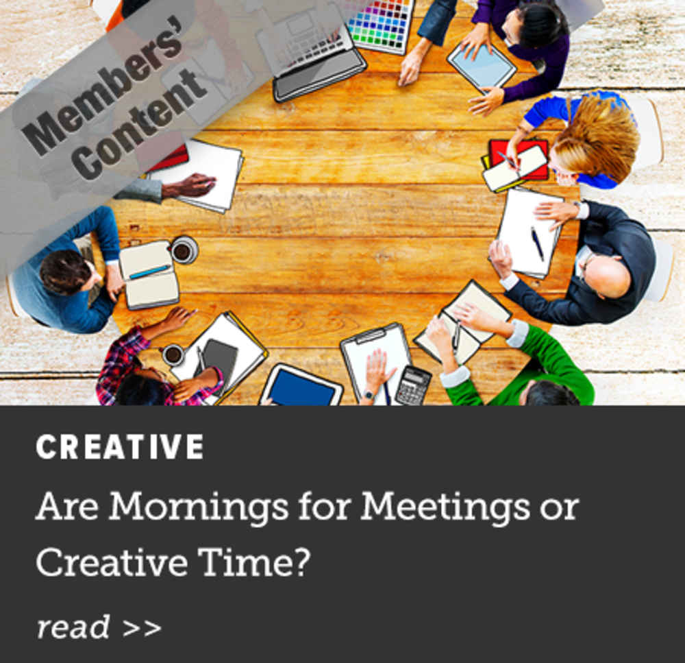 Are Mornings for Meetings or Creative Time?