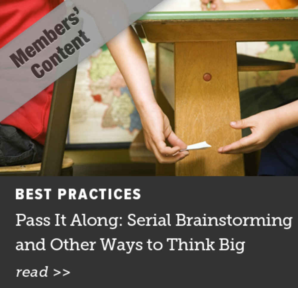 Pass It Along: Serial Brainstorming