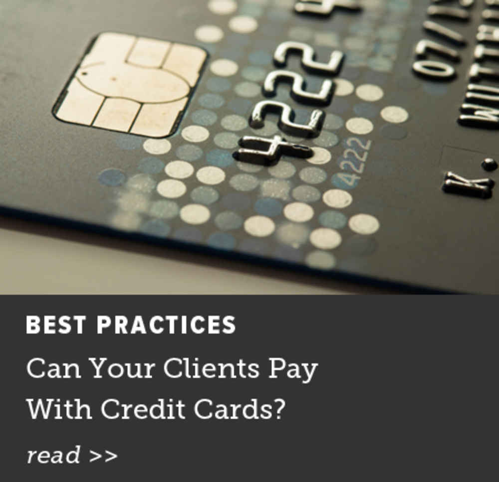 Can Your Clients Pay With Credit Cards?