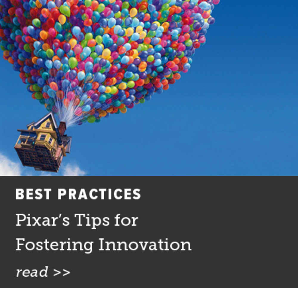 Pixar's Tips for Fostering Innovation