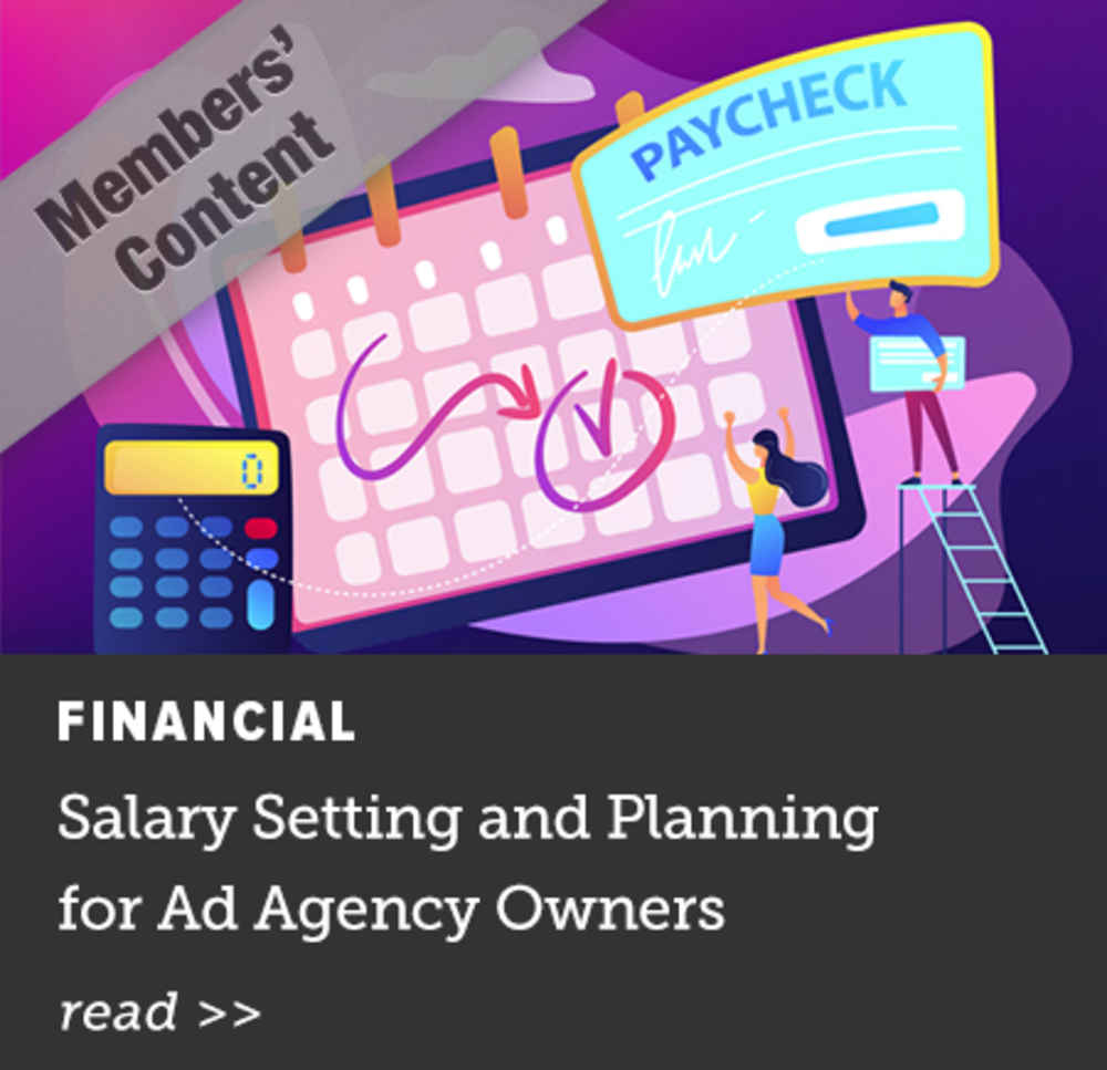 Salary Setting and Planning for Ad Agency Owners