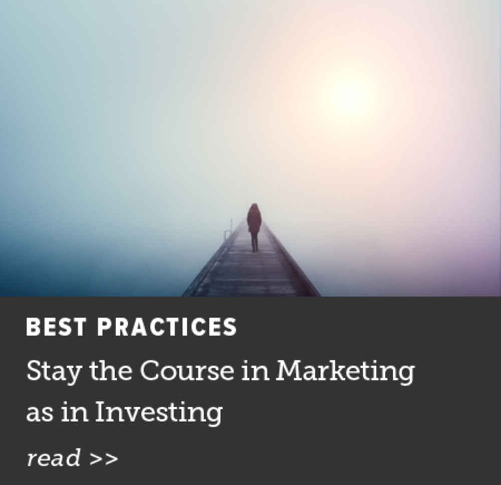 Stay the Course in Marketing
