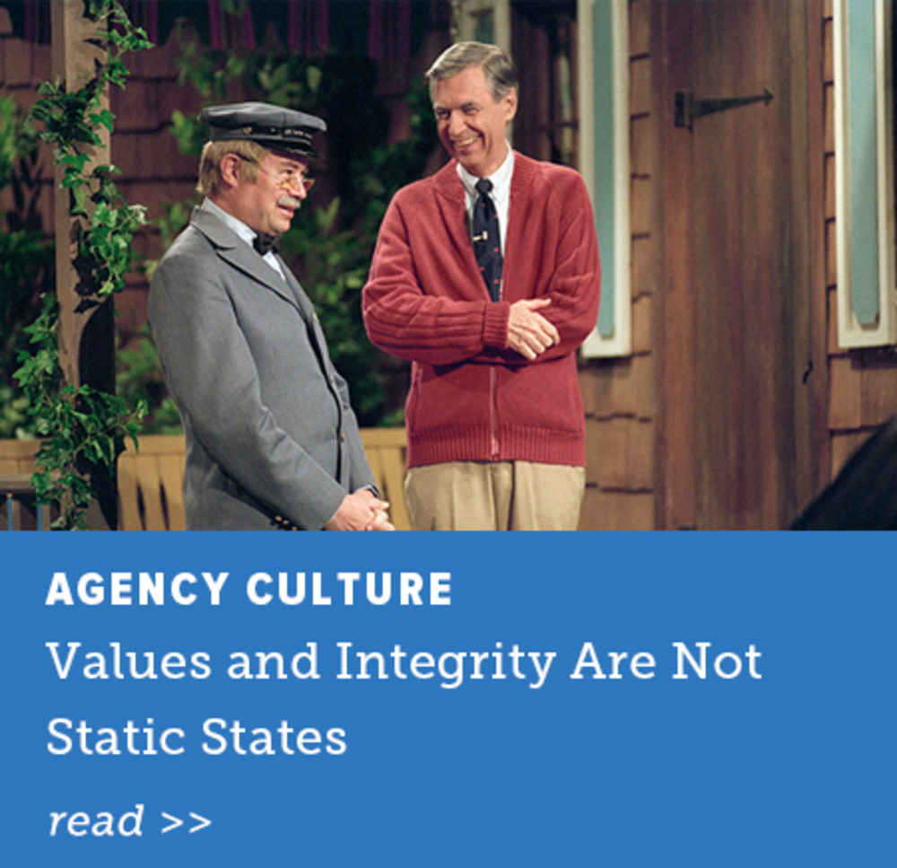Values and Integrity Are Not Static States