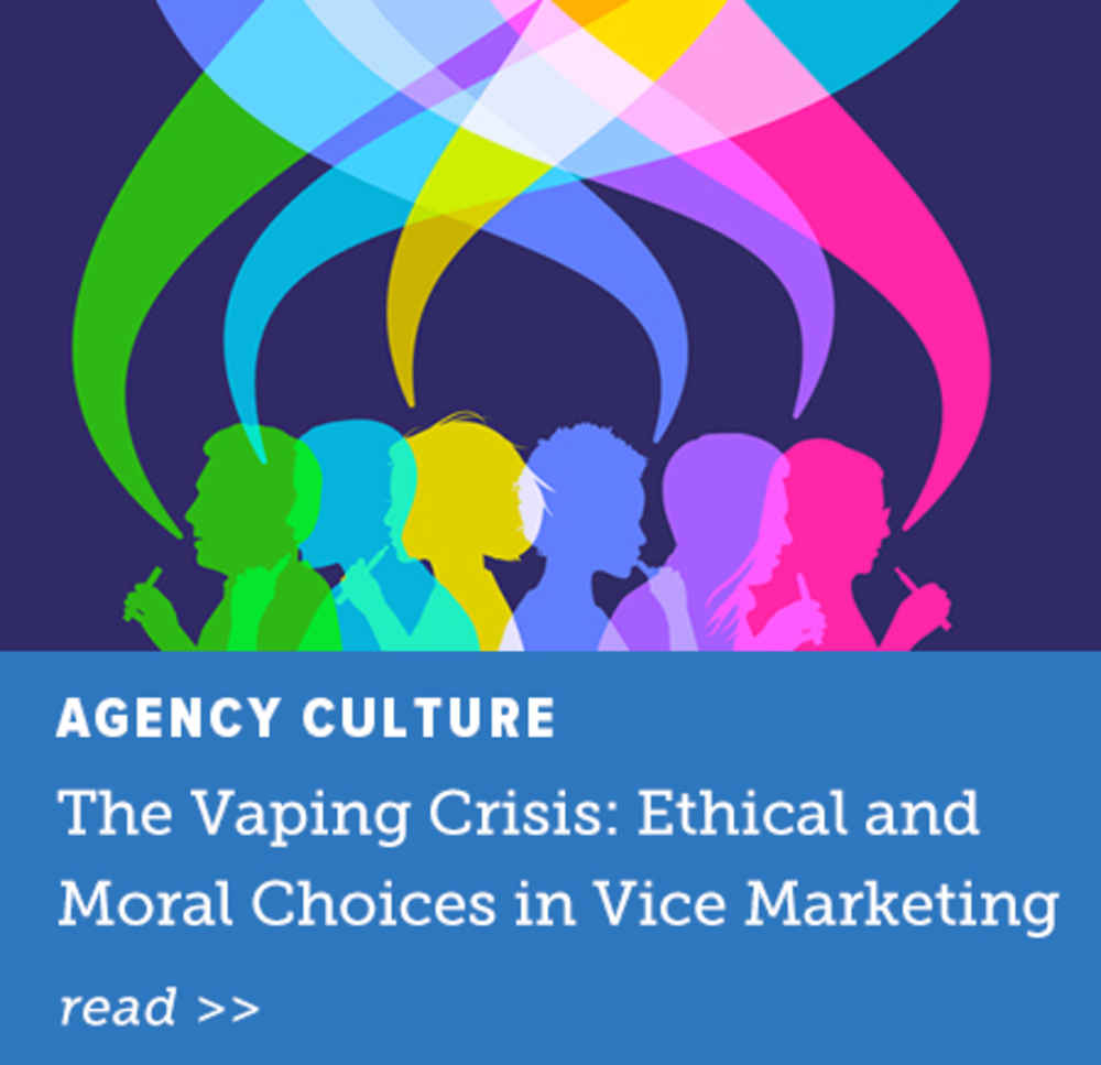 The Vaping Crisis: Ethical and Moral Choices in Vice Marketing