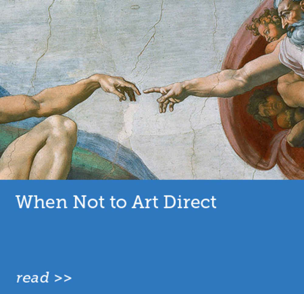 When Not to Art Direct
